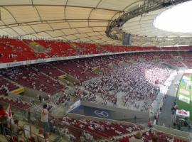 The best atmosphere is at the football stadium in Stuttgart