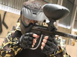 Thrilling action in modern paintball arena