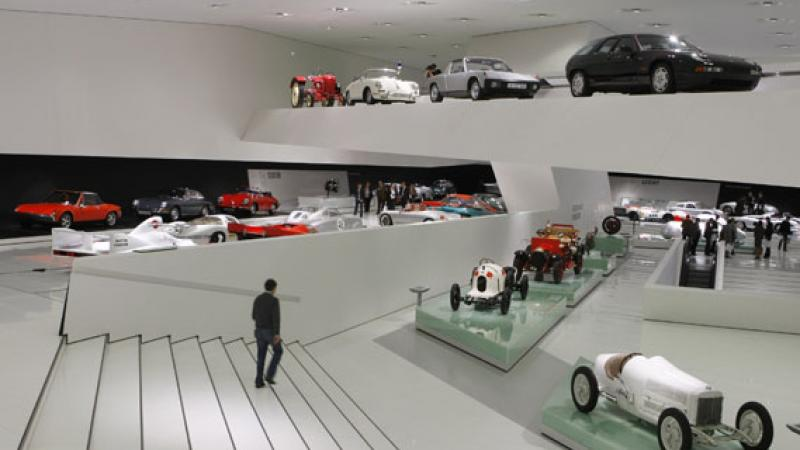 Walk the museum and explore the history of Porsche