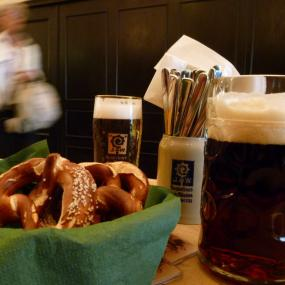 Your German dinner cannot lack a beer!