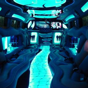Luxurious interior of limo
