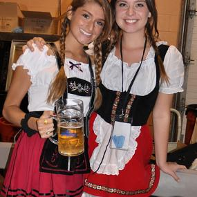 Let these two hot German girls serve you a glass of cold beer